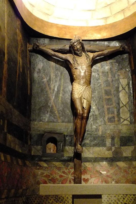 Le christ souriant du château de Javier